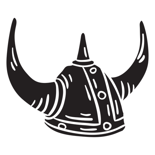 Ilustración de casco vikingo negro