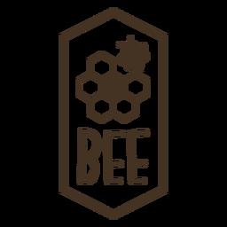 Hexagon Bienenwaben Bienenstock Abzeichen