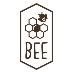 Hexagon honeycomb beehive badge