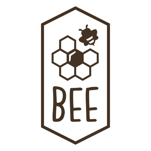 Hexagon honeycomb beehive badge Transparent PNG