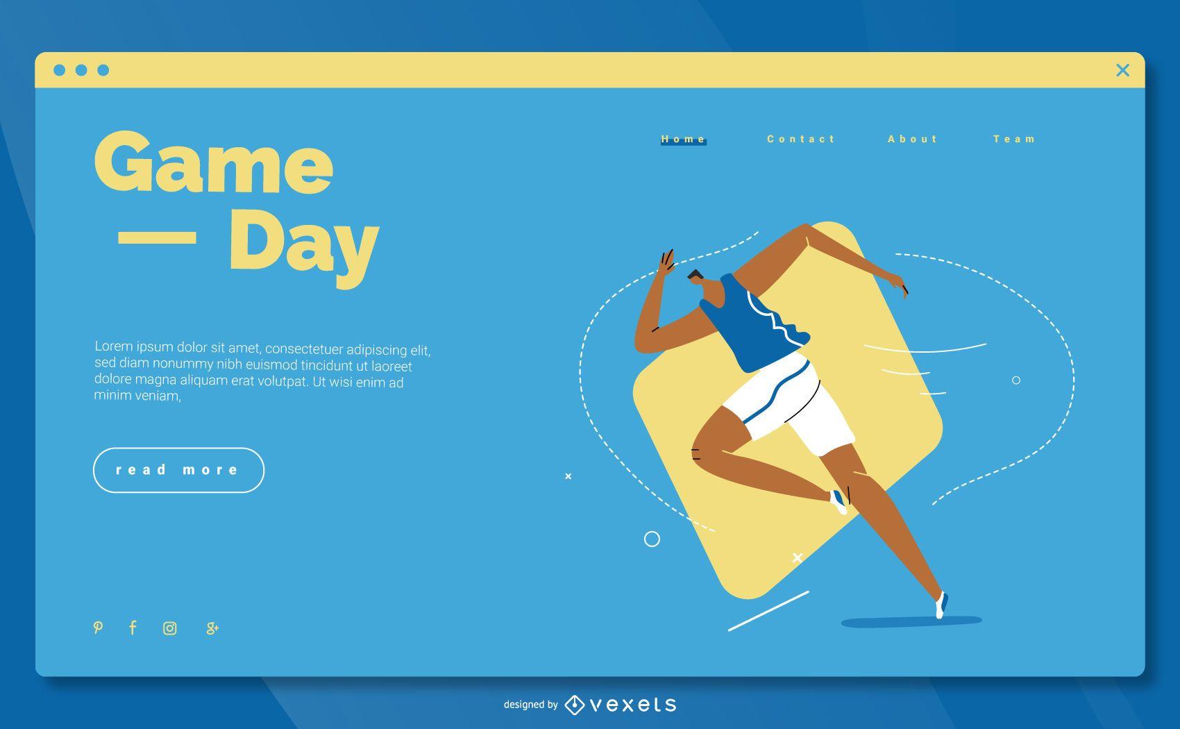 Diseño de página de aterrizaje de deportes olímpicos