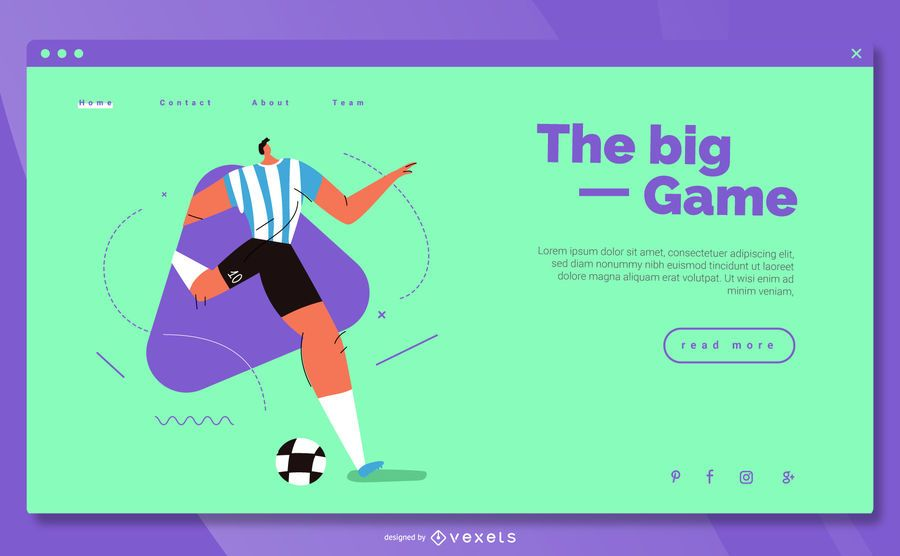 Olympic Sports Colorful Landing Template