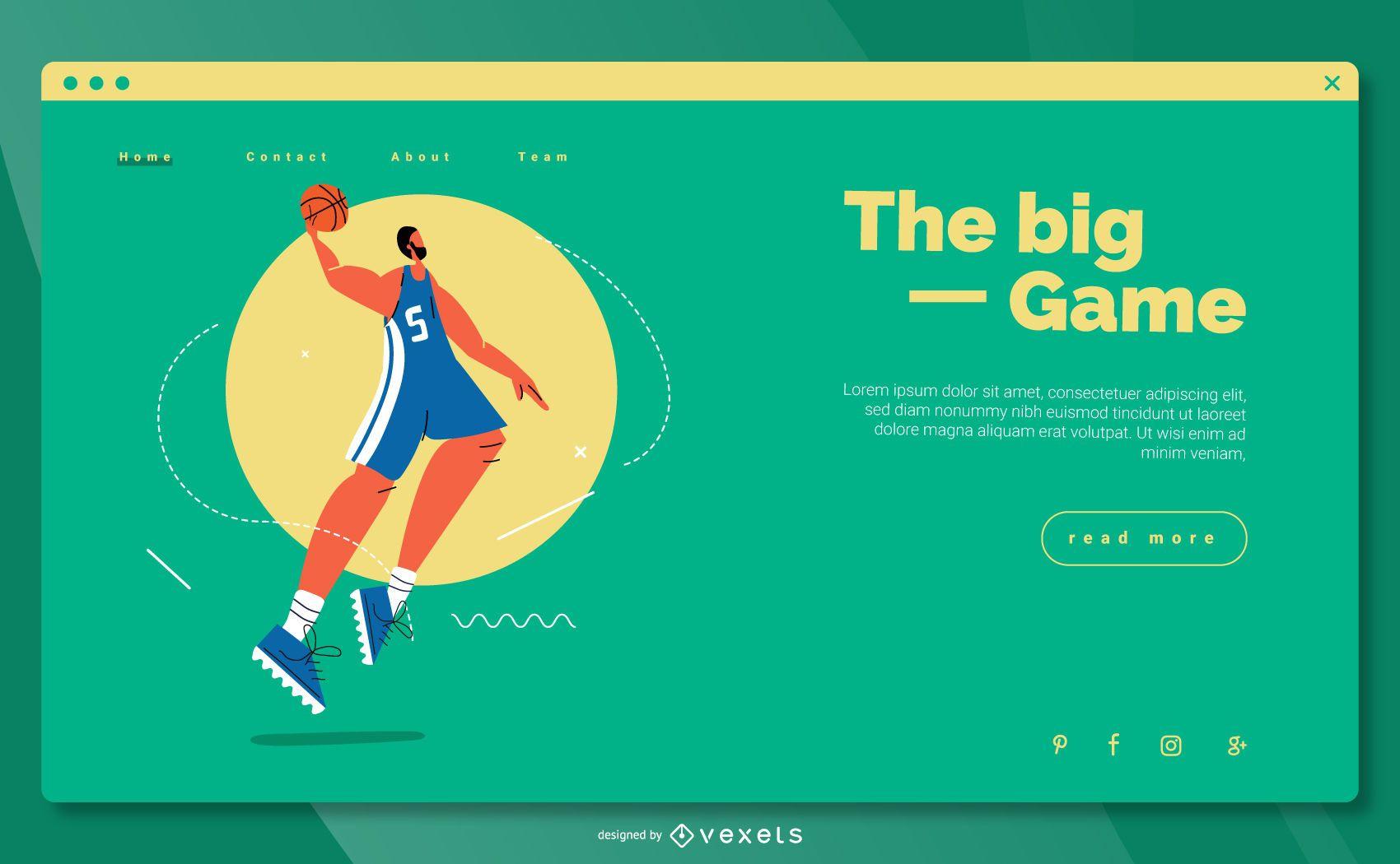 Diseño web de aterrizaje de los Juegos Olímpicos