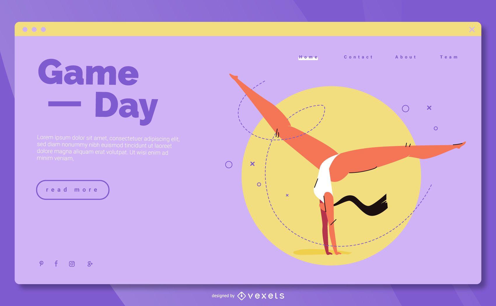 Diseño de la página de destino de los Juegos Olímpicos