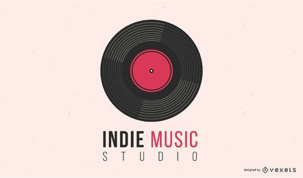 Indie Music Vinyl Record Logo Design