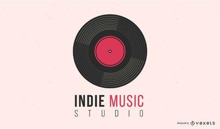 Indie Music Vinyl Record Logo Design