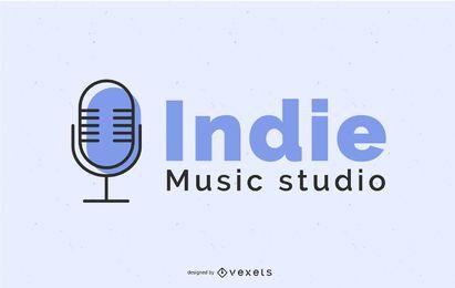 Design de logotipo de estúdio de música independente