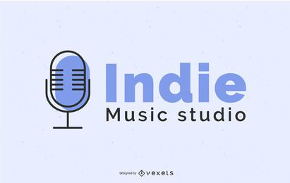 Design de logotipo do Indie Music Studio