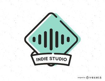 Design de logotipo de estúdio de música