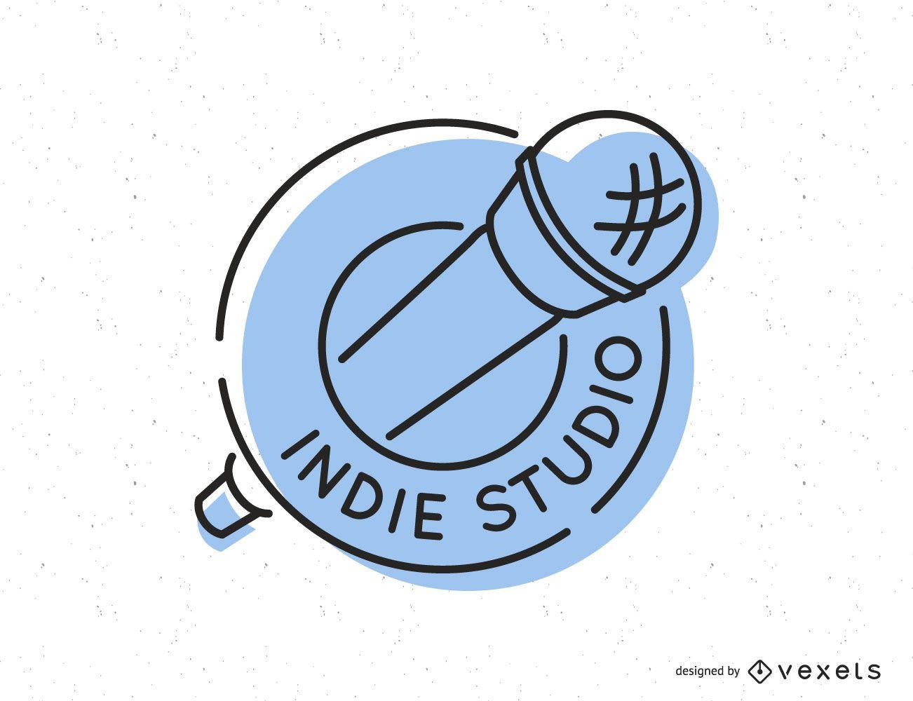 Design de logotipo do Indie Music Studio
