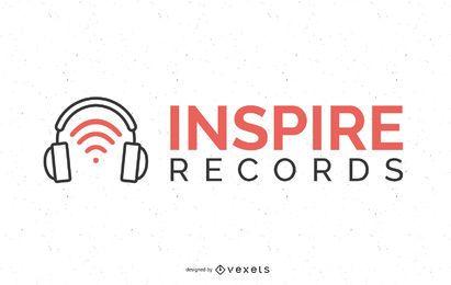 Design de logotipo de gravadora de música