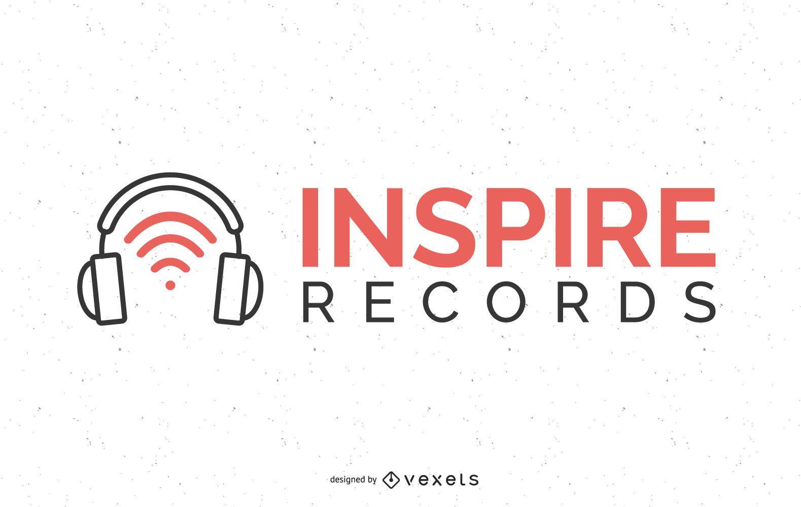 Diseño de logotipo de disco de música