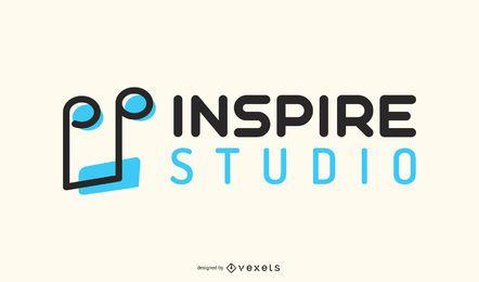 Design de logotipo de gravadora de nota musical