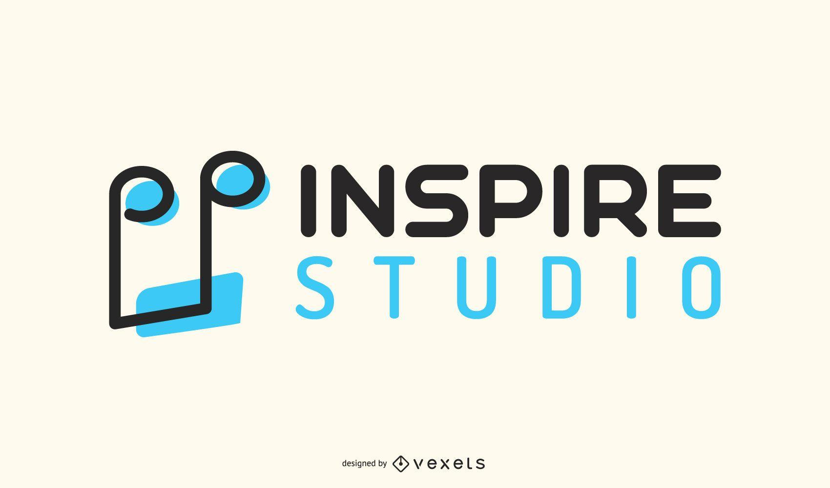 Music Note Record Label Logo Design