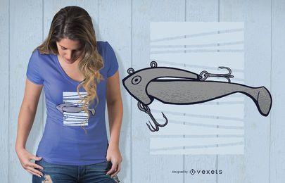Fisch-Angler-Köder-T-Shirt Entwurf