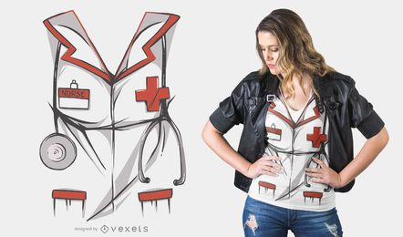 Diseño de camiseta de disfraz de enfermera