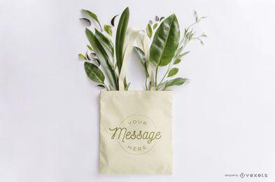Bolso de mano maqueta floral
