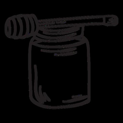 Honey dipper jar stroke Transparent PNG