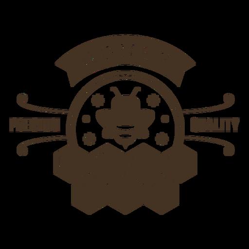 Honey premium quality honeycomb badge Transparent PNG