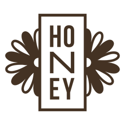 Honey vertical flowers badge