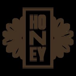 Insignia de flores verticales de miel