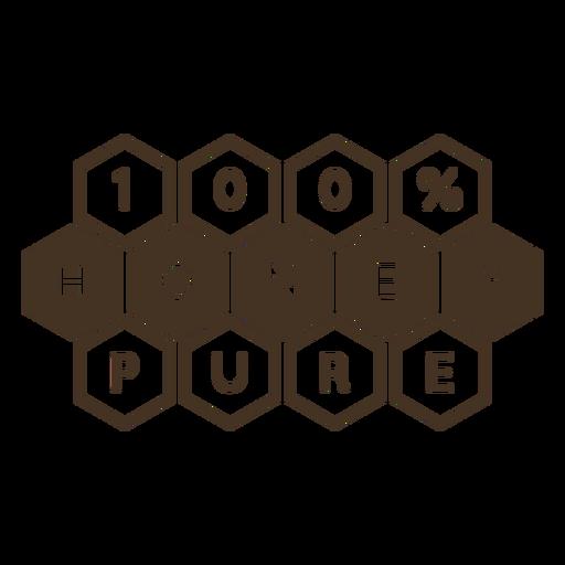 Insignia de miel de hexágonos de panal puro Transparent PNG