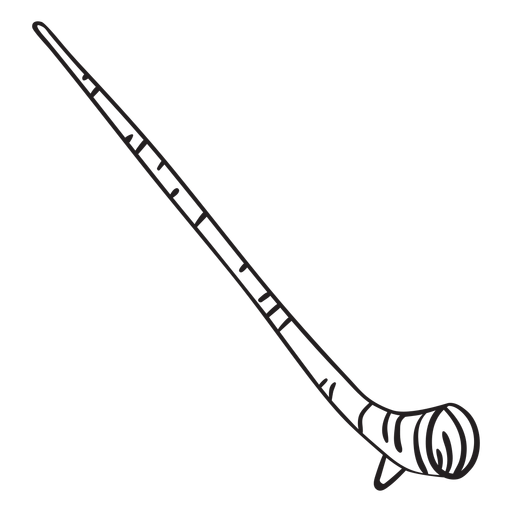 Horn alpine horn traditional stroke Transparent PNG