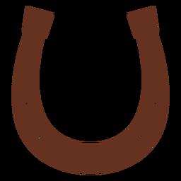 Ilustración de caballo de pezuña de herradura