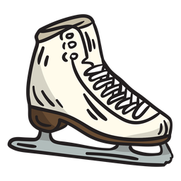 Ice skate blade illustration