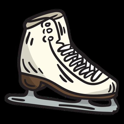 Ice skate blade illustration