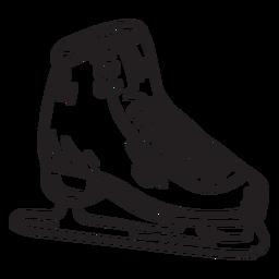 Golpe de hoja de zapato de patinaje sobre hielo