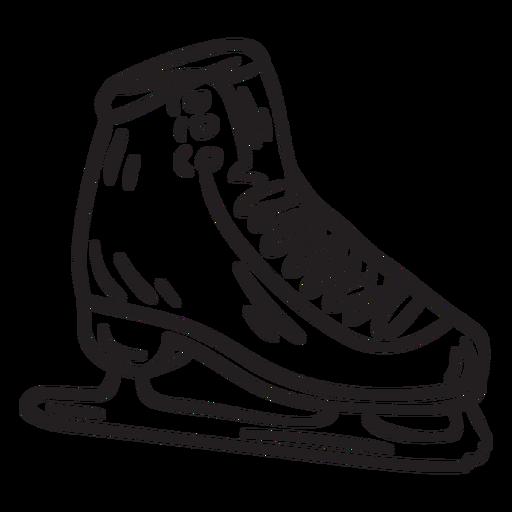 Ice skate shoe blade stroke Transparent PNG