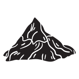 Iconic mountain matterhorn black