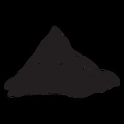 Iconic mountain matterhorn black