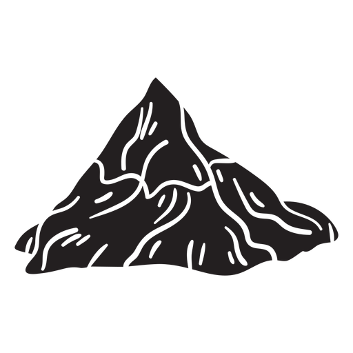 Iconic mountain matterhorn black Transparent PNG