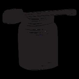 Jar dipper mel preto
