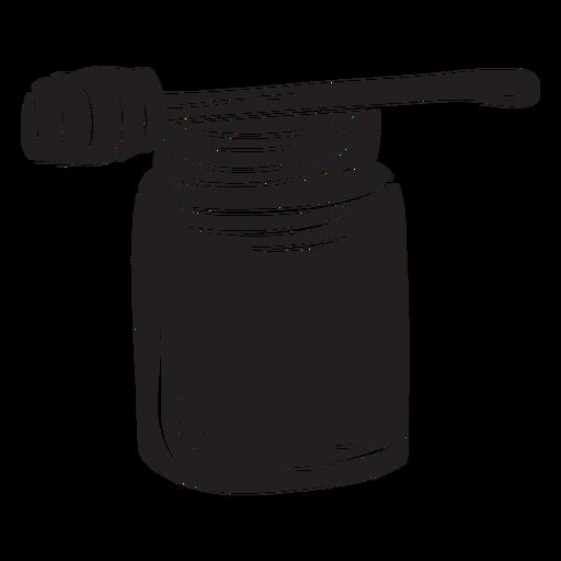 Jar dipper honey black Transparent PNG