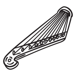 Instrumento de cuerda Kantele finland stroke