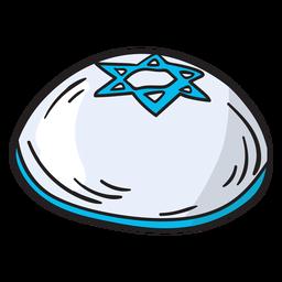 Ilustración de gorra de israel kipá yarmulke