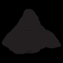 Landform montanha plana preto
