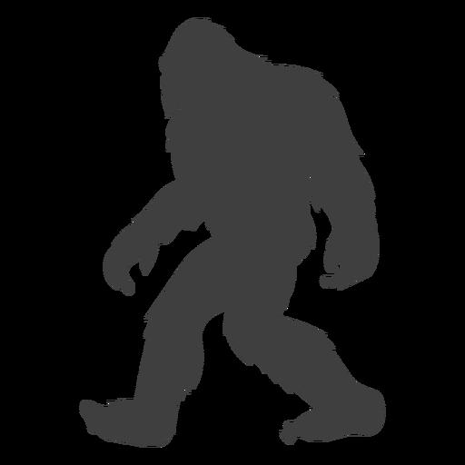 Esquerda em movimento sasquatch folclore preto
