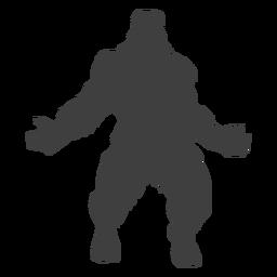 Criatura legendaria bigfoot negro