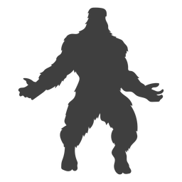 Legendary creature bigfoot black
