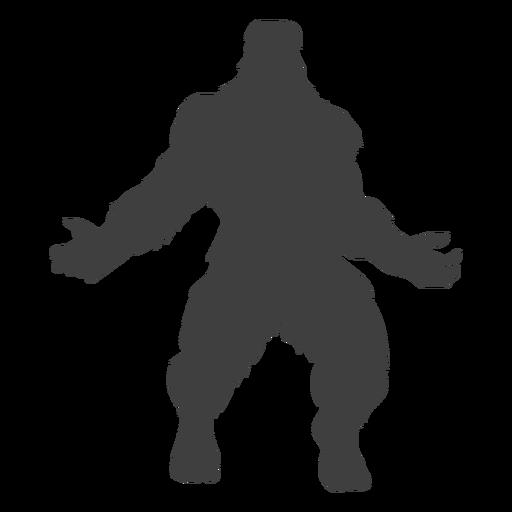 Criatura legendaria bigfoot negro Transparent PNG