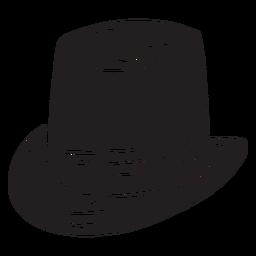 Cabeça de chapéu de duende cobrindo preto