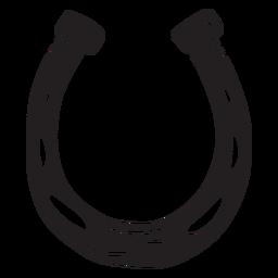 Ilustración de herradura de la suerte negro