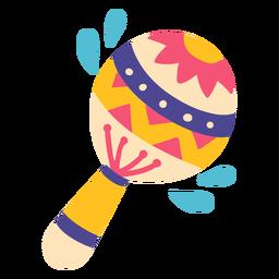 Ilustración de instrumento musical de música de maracas