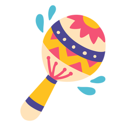 Ilustración de instrumento musical de música maracas