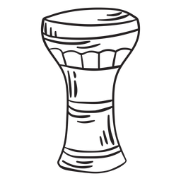 Membranophone musical instrument goblet stroke