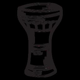 Trazo de copa de instrumento musical membranófono
